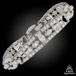 Art Deco 1925 Platinum Diamond Bracelet