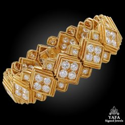 HARRY WINSTON Diamond Jacques Timey Bracelet