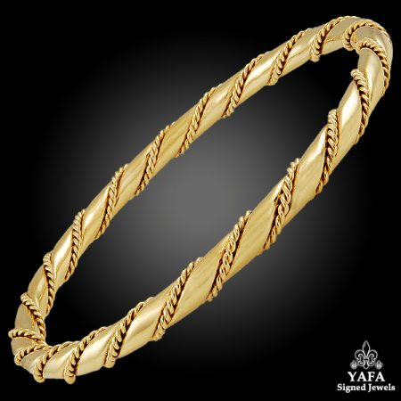 CARTIER Rope Chain Bangle Bracelet