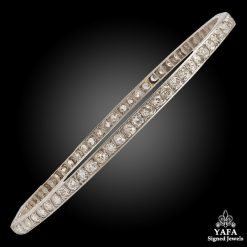 Art Deco Platinum Diamond Bangle