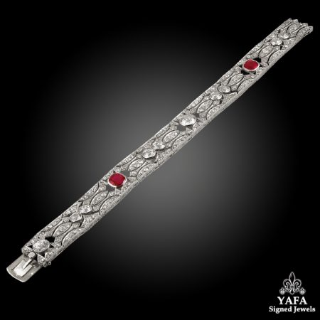 ART DECO Diamond, Ruby Bracelet