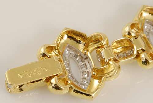 DAVID WEBB Two Tone Diamond Bracelet