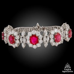 Circa 1960s Ruby,Diamond Bracelet