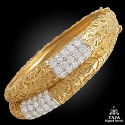 VAN CLEEF & ARPELS Diamond Double Row Bangle