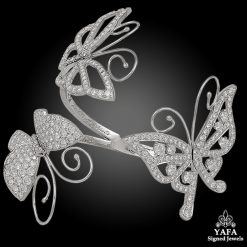 VAN CLEEF & ARPELS Diamond Butterfly Cuff Bangle