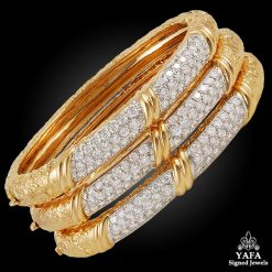 VAN CLEEF & ARPELS Diamond Three Bangles