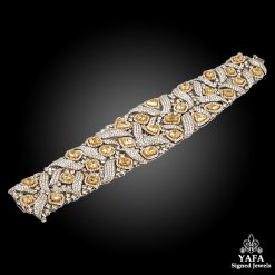 18k Gold White, Fancy Yellow Diamond Bracelets