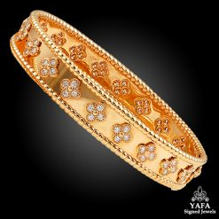 VAN CLEEF & ARPELS Diamond Perlee Bangle