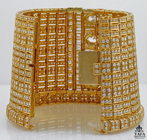 Diamond Gold Cuff Bracelet-view2