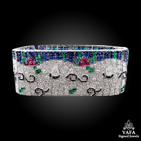 Contemporary Diamond Tutti Frutti Floral Bracelet