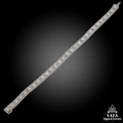 Platinum Diamond Straight Line Bracelet
