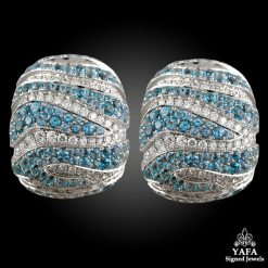 De GRISOGONO Blue Topaz Diamond Earrings