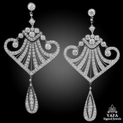 Fine Jewelry Platinum Diamond Earrings