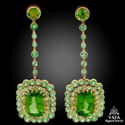 18k Yellow Gold Peridot Earrings