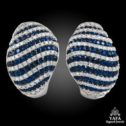 SALAVETTI Diamond & Sapphire Earrings
