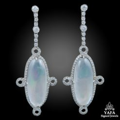 Platinum Diamond, Crystal & Mother of Pearl Earrings