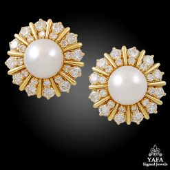 HAMMERMAN BROTHERS South Sea Pearl & Diamond Earrings
