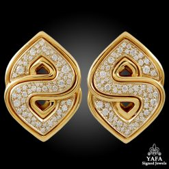 MARINA B. 'S' Shape Diamond Earrings