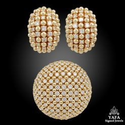VAN CLEEF & ARPELS Diamond Earrings, Brooch