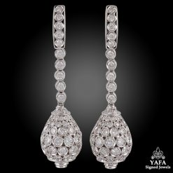 18k Gold Diamond Ball Earrings