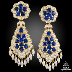 VAN CLEEF & ARPELS Diamond, Sapphire Earrings