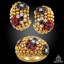 VAN CLEEF & ARPELS Bagatelle Bombe Ring Earring Suite