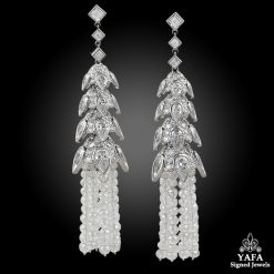 Contemporary Diamond Tassel Earrings