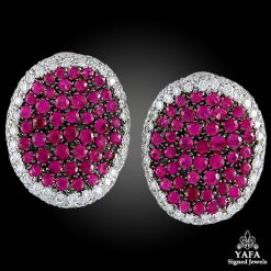 Diamond Pink Sapphire Earrings