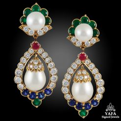VAN CLEEF & ARPELS Diamond, Pearl Earrings