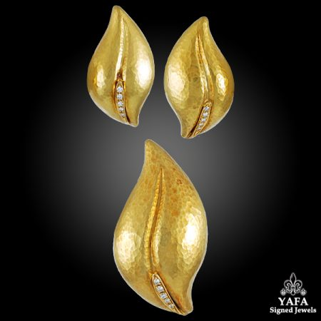 PALOMA PICASSO Diamond Leaf Earrings