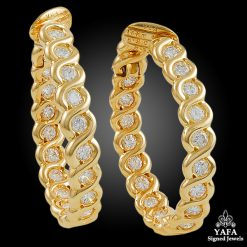 VAN CLEEF & ARPELS Diamond Hoop Ear Clips