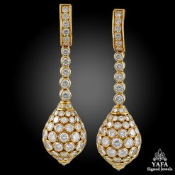 CARTIER Taj Mahal Diamond Ear Clips