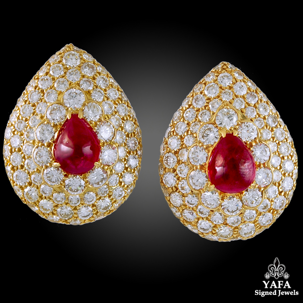 GRAFF Diamond and Ruby Earrings