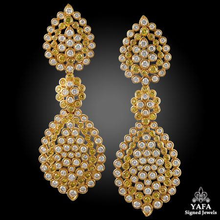 Vintage Van Cleef & Arpels Diamond Earrings