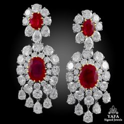 VAN CLEEF & ARPELS Ruby, Diamond Ear Pendant