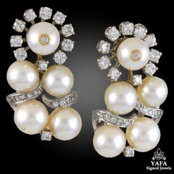 TIFFANY & Co. Diamond, Pearl Earrings