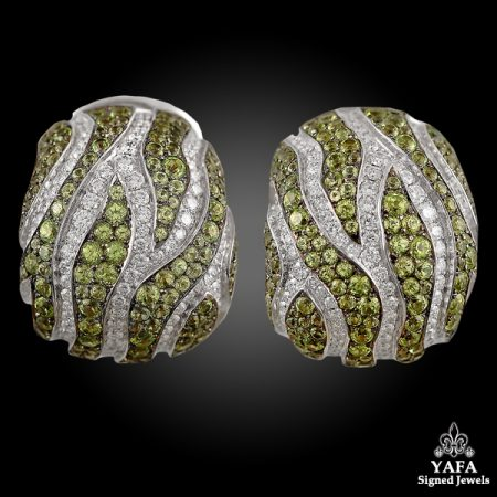 DE GRISOGONO Peridot, Diamond Earrings