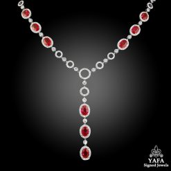 Platinum Diamond & Ruby Necklace - 18.79 cts.