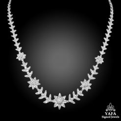 Platinum Diamond Long Necklace