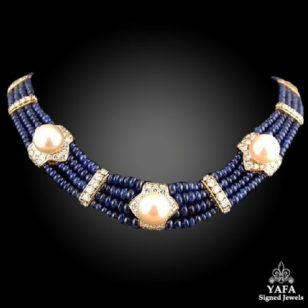 FRED Diamond, Sapphire & Pearl Necklace