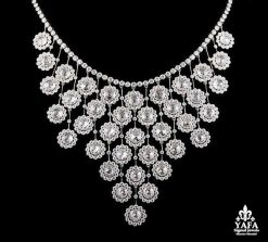 Platinum Round Cut Diamond Necklace