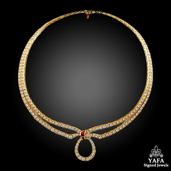 BOUCHERON Diamond Ruby Necklace