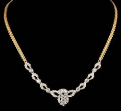 Estate 18k Gold Diamond Necklace
