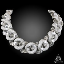 Platinum Crystal Diamond Necklace
