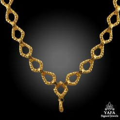 DAVID WEBB Yellow Gold Long Necklace