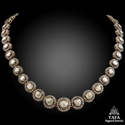 18k Gold Rose-cut Diamond Necklace