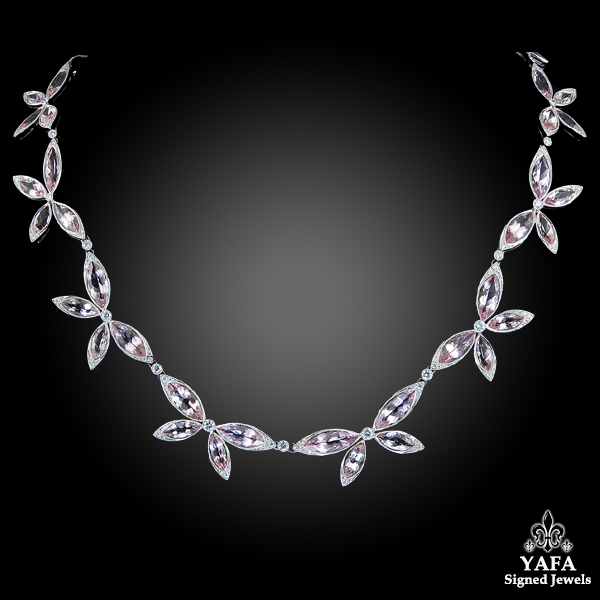 Marquise-shaped Morganite Necklace