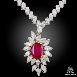 BOUCHERON Diamond & Ruby Necklace