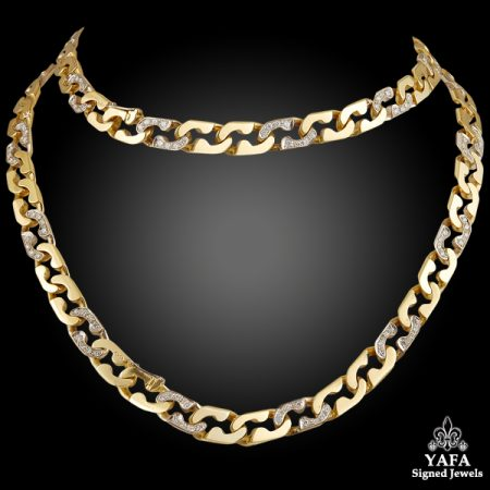 CARTIER Diamond Link Long Necklace