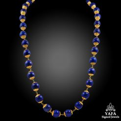 21K Gold Lapis Beads Necklace